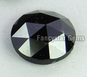 Natural Round Rose Cut Black Loose Diamond 09