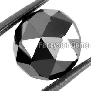 Natural Round Rose Cut Black Loose Diamond 11
