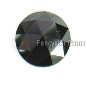 Natural Round Rose Cut Black Loose Diamond