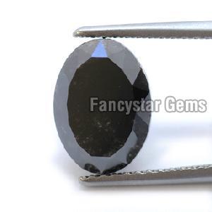 Oval Cut Black Loose Diamond