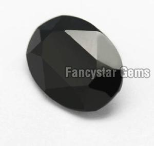Oval Shape Black Color Diamond