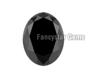 Oval Shape Black Diamond