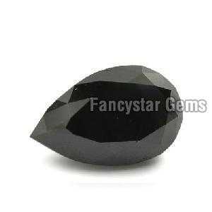 Pear Cut Natural Black Diamond 01