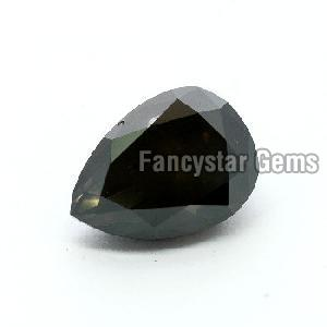 Pear Cut Natural Black Diamond 02