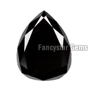 Pear Cut Natural Black Diamond 06