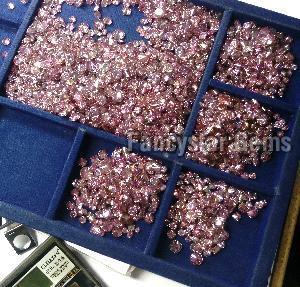 Pink Color Loose Diamond  02