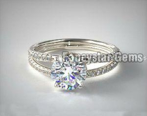 Split Shank Ribbon Engagement Rings