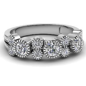 White Diamond Engagement Ring 01