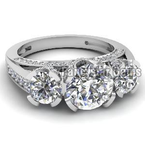 White Diamond Engagement Ring 03