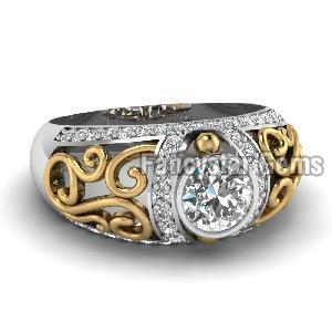 White Diamond Engagement Ring 05