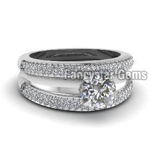 White Diamond Engagement Ring 06