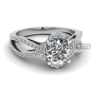 White Diamond Engagement Ring 09