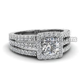 White Diamond Engagement Ring 10