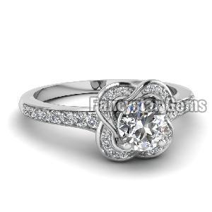 White Diamond Engagement Ring 11
