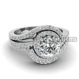 White Diamond Engagement Ring 12