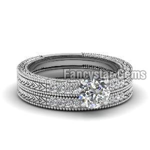 White Diamond Engagement Ring 13