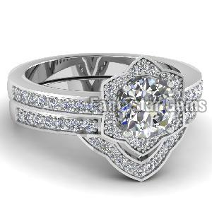 White Diamond Engagement Ring 17