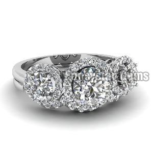 White Diamond Engagement Ring 18
