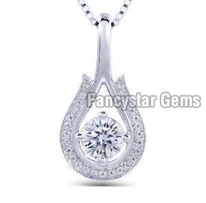 White Gold Diamond Pendant 02