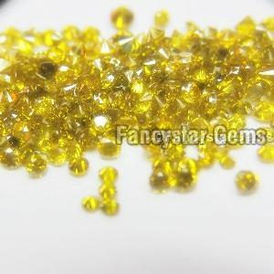 Yellow Color Loose Diamond 10