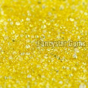 Yellow Color Loose Diamond