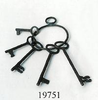 Antique Iron Key Bunch
