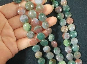 Agate Coin Beads