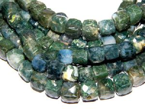 Agate Cube Beads
