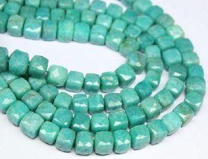 Amazonite Cube Beads