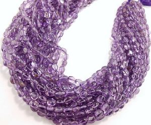 Amehyst Smooth Rondelle Oval Beads