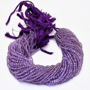 Amethyst Rondelle Beads 01