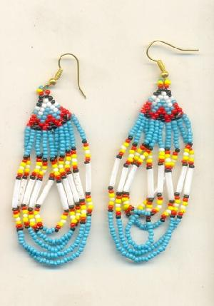 FJ-BDER0# 30160 Beaded Earrings