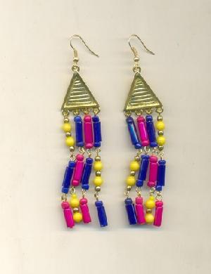 FJ-GER0# 30166 Glass Earrings
