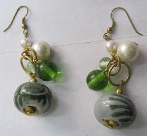 FJ-GER0# 30168 Glass Earrings