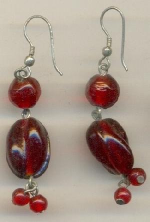 FJ-GER0# 30171 Glass Earrings