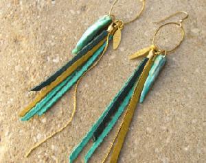 FJ-LER0# 30237 Leather Earrings