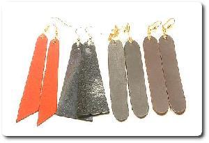 FJ-LER0# 30238 Leather Earrings