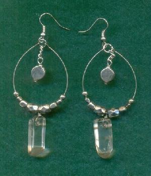 FJ-SER0# 30338 Stone Earrings