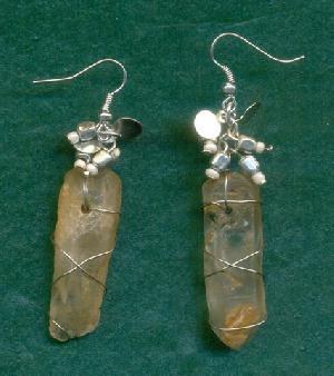 FJ-SER0# 30339 Stone Earrings