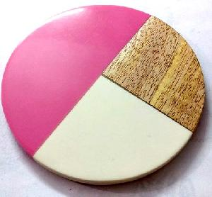 TT-RM-CSTR0# 30419 Wood & Resin Coaster