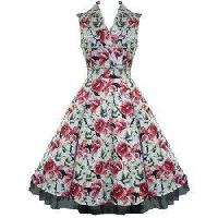 Ladies Floral One Piece Dress