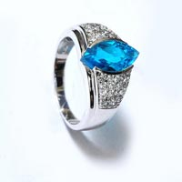 Blue Stone Sterling Silver 925 Ring