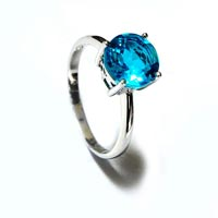 Crafted Sterling Silver 925 Stone Ring Blue