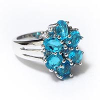 Elegant Stone Sterling Silver 925 Blue Stone Ring