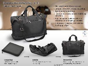AE-131 Folding Leatherette Travel Bag