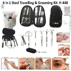 H-440 6in 1 Steel Travelling Grooming Kit