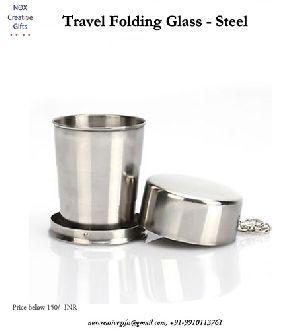 Travel Folding Glass Steel