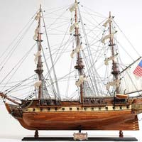 Constitution Copper Bottom E.E Wooden Model Ship