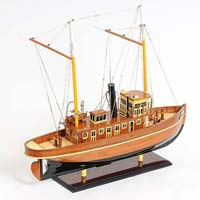 Seguin Tug Wooden Model Ship