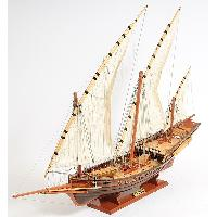 Xebec Sailing Wooden Model Ship